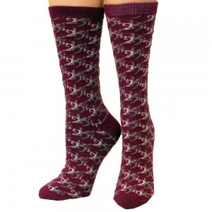 "Ladies Socks by 2kGreyâ""¢ Wine"