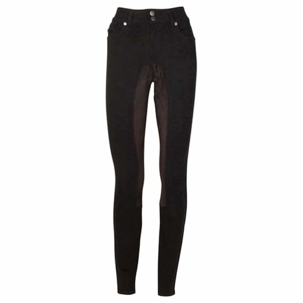 2kGrey Ladies Full Seat Jean by Kiya Tomlin Black 26