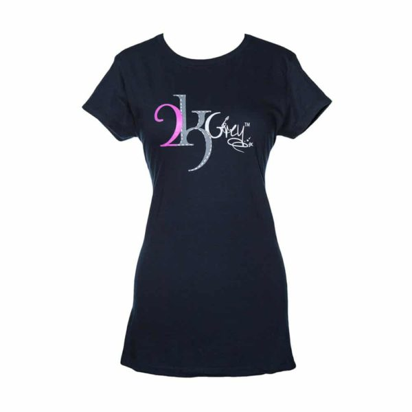 2kGrey Ladies Logo Tee Shirt Navy Navy Female L