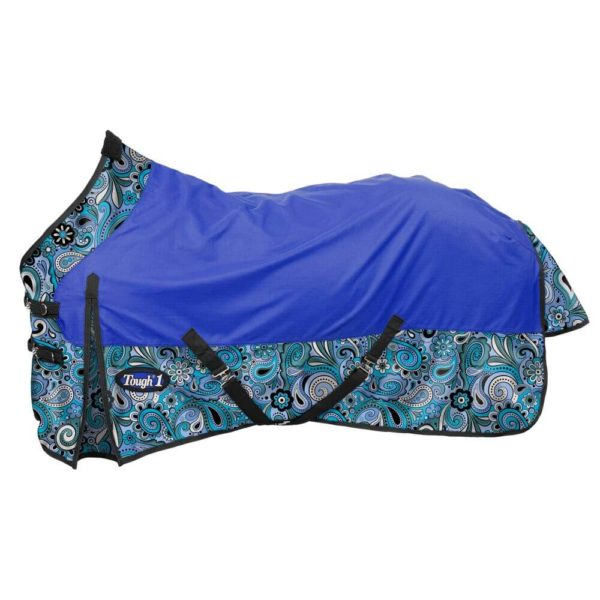 Tough-1 1200D Waterproof Poly Turnout Sheet in Paisley Shimmer Print