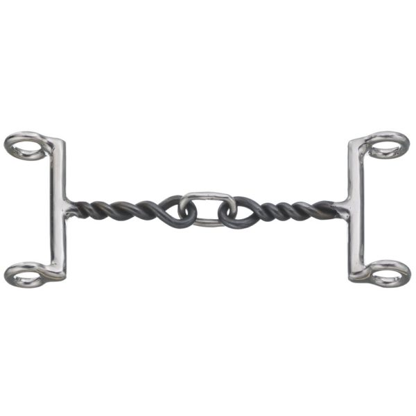 """5"""" Gag Bit 3 Piece Mouth Twisted Snaffle"""