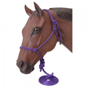 7 Pack Miniature Poly Rope Halters with Leads