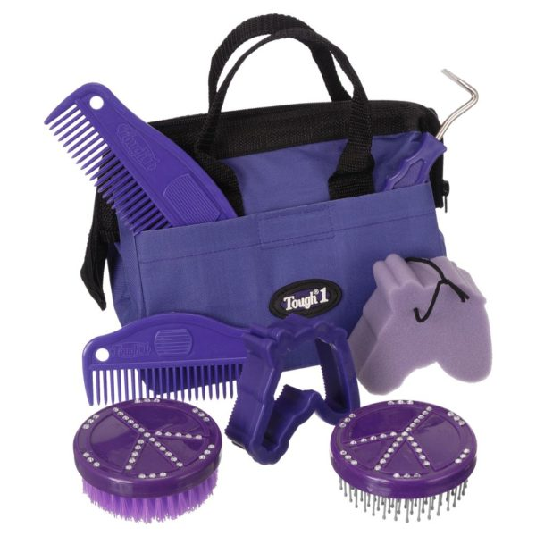 8 Piece Crystal Peace Signs Grooming Kit
