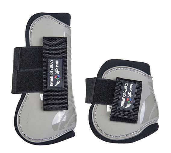 HKM Set of 4 Tendon and Fetlock Boots Grey