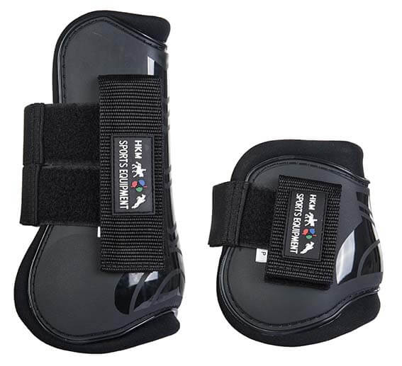 HKM Set of 4 Tendon and Fetlock Boots Hunter Green