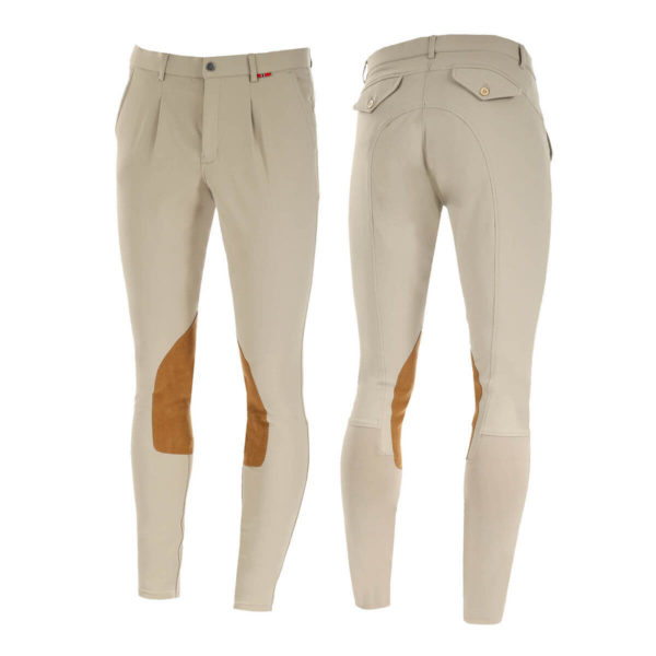 B Vertigo Sander Men's Leather Knee Patch Breeches