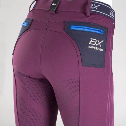 B Vertigo Xandra Women's BVX Silicone Fullseat Breeches SHPU Purple