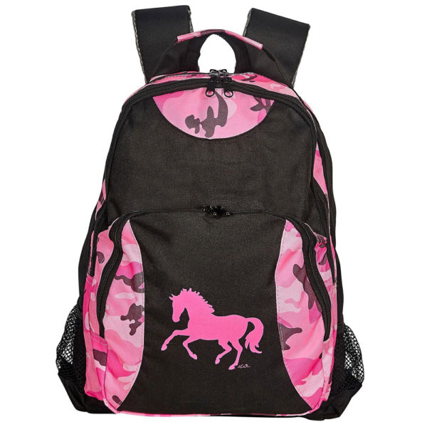 Backpack Pink Camo with Galloping Horse