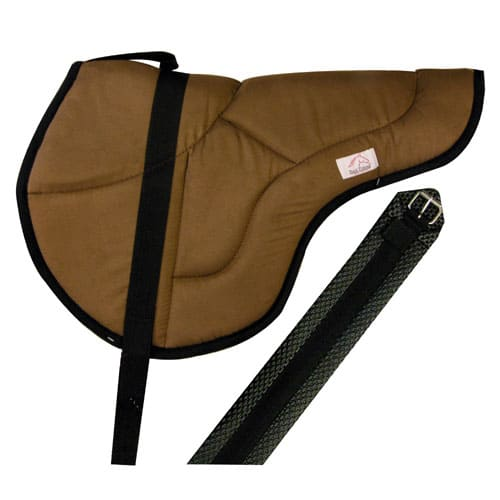 Best Friend English Style Bareback Pad-Horse Size Brown / Black