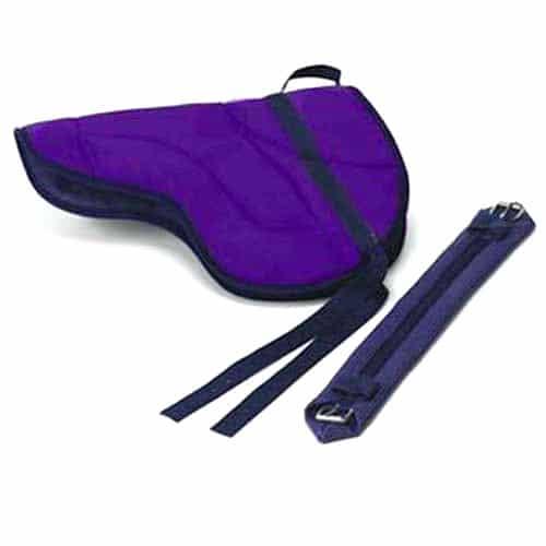 Best Friend English Style Bareback Pad-Horse Size Purple
