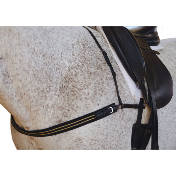 Breast Collar with Elastic Web Chest BLK Black Cob