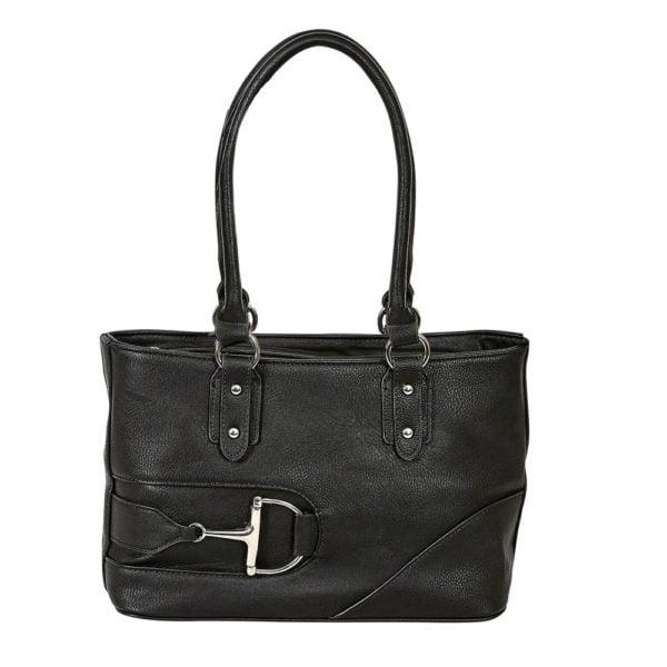 Dee Bit Faux Leather Handbag Black