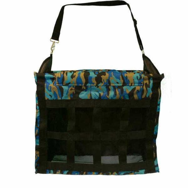 Deluxe Top Load Hay Bag Blue Camo