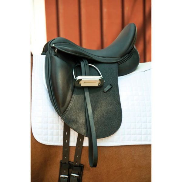 Dynamic Dressage Saddle with Calf Skin Black 16""