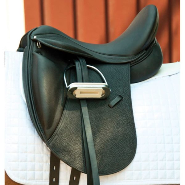 Dynamic Dressage Saddle with Mono Flap Black 16""