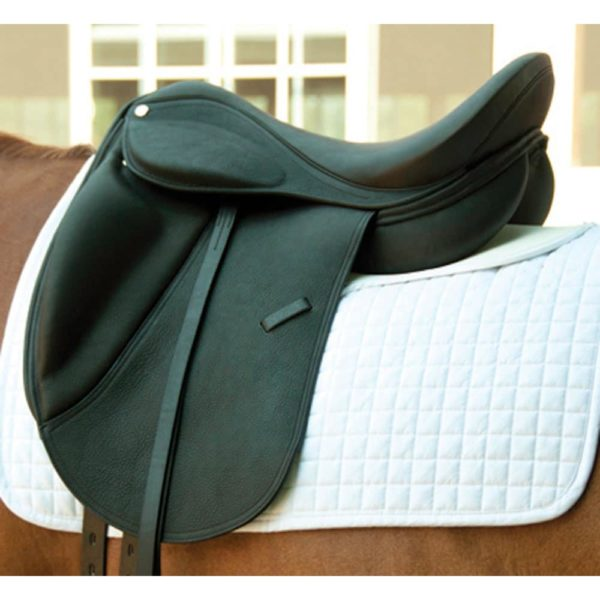 Dynamic Dressage Saddle with Smooth Leather Black 16""