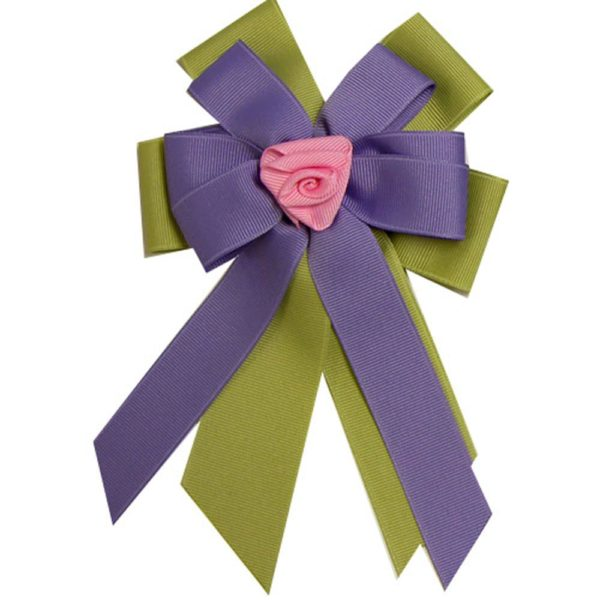 Ellie's Bow Purple and Green