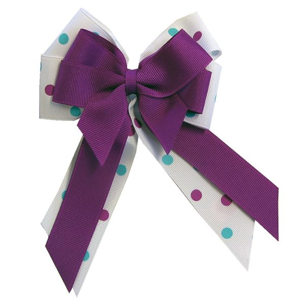 Ellie's Bow Purple and White