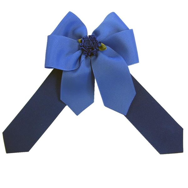 Ellie's Bow Royal Blue and Navy
