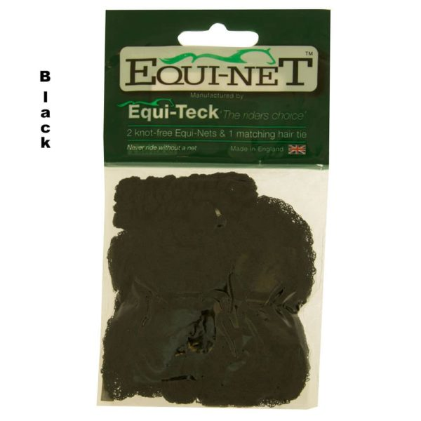 Equi-Net Pain Free Hair Net 2-pk Black