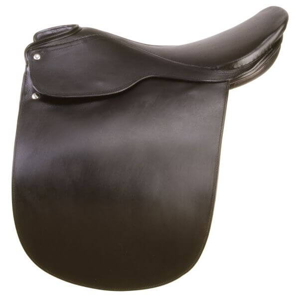 EquiRoyal Liberty Lane Fox Smooth Seat Show Saddle Wide Tree