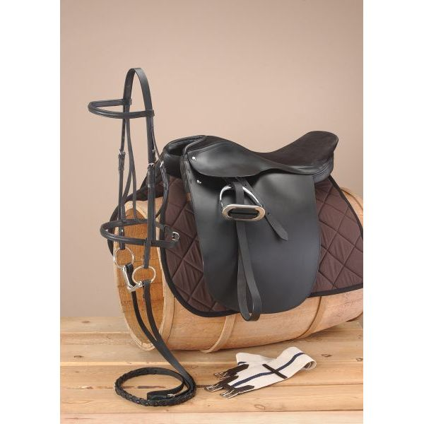 EquiRoyal Liberty Lane Fox Suede Seat Show Saddle Package