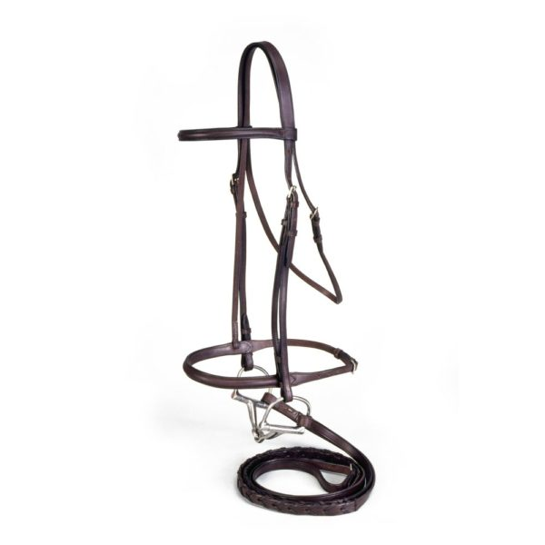 EquiRoyal Raised Snaffle Bridle