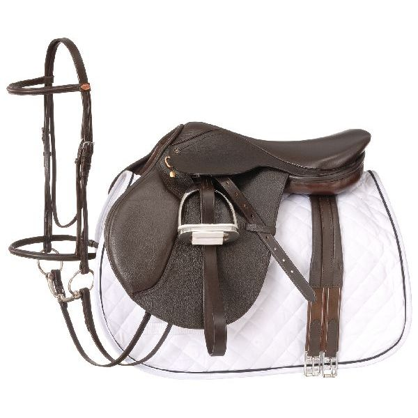 EquiRoyal Regency Close Contact Saddle Package Padded Flap Wide Tree