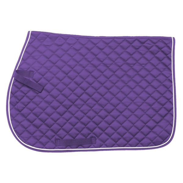 EquiRoyal Square Quilted Cotton Comfort English Saddle Pad