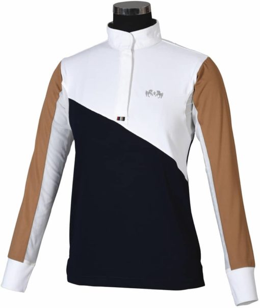 Equine Couture Sawyer Show Shirt Navy White Front