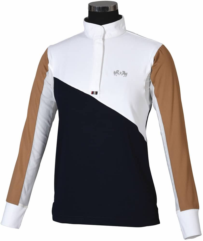 Equine Couture Sawyer Show Shirt Navy White The