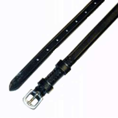 Exselle Double Keeper Spur Strap Black