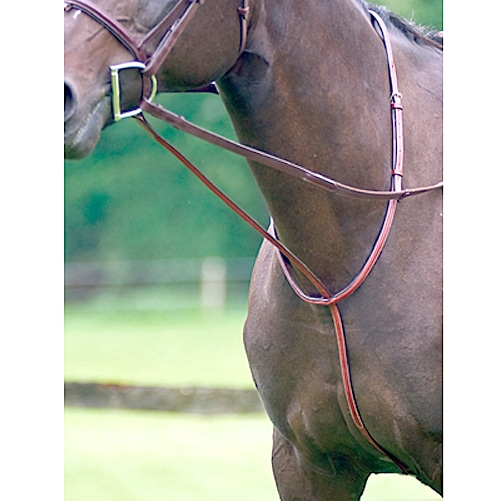 Exselle Elite Fancy Square Raised Standing Martingale Mid Brown Cob