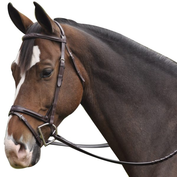 Exselle Elite Plain & Fancy Bridle-Brown Brown Horse