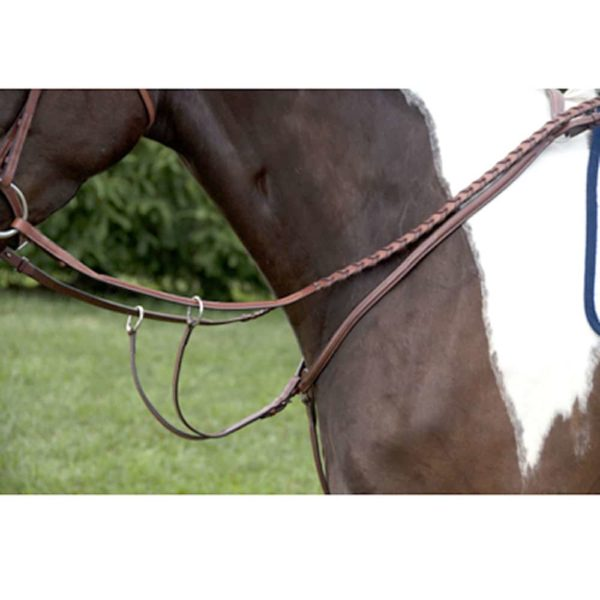 Exselle Elite Plain Raised Breastplate with Running Attachment Brown Cob