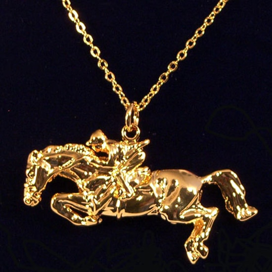 Exselle Jumper Rider Pendant Gold Plate