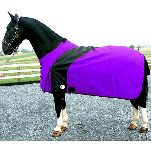 Exselle Prima Blanket-Purple with Black Purple / Black 74""