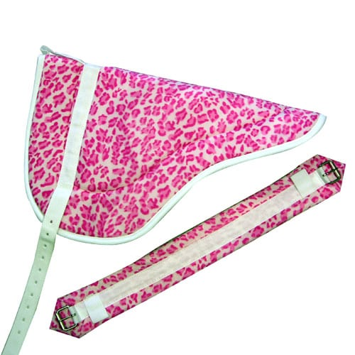 Faux Color Animal Print Bareback Pads Pink