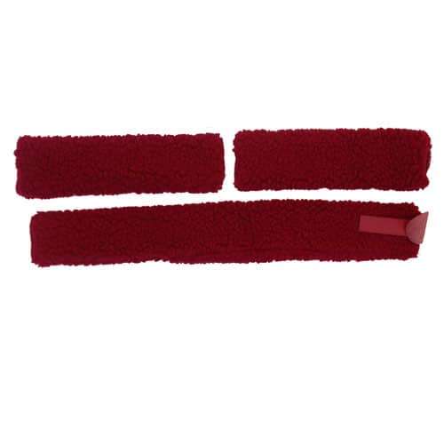 Fleece Martingale Covers Red