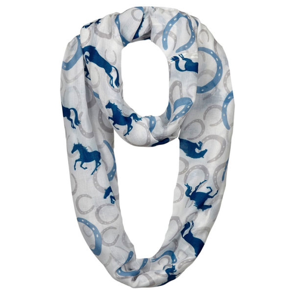 Galloping Horse Infinity Scarf Horses and Horseshoes