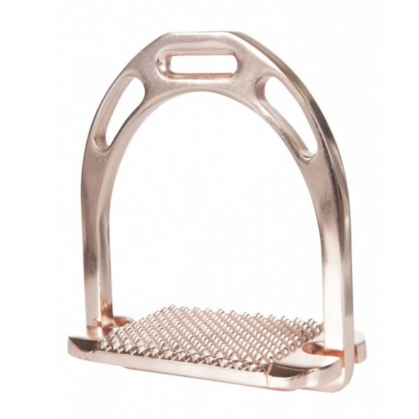 HKM Space Stirrup Irons Rose Gold