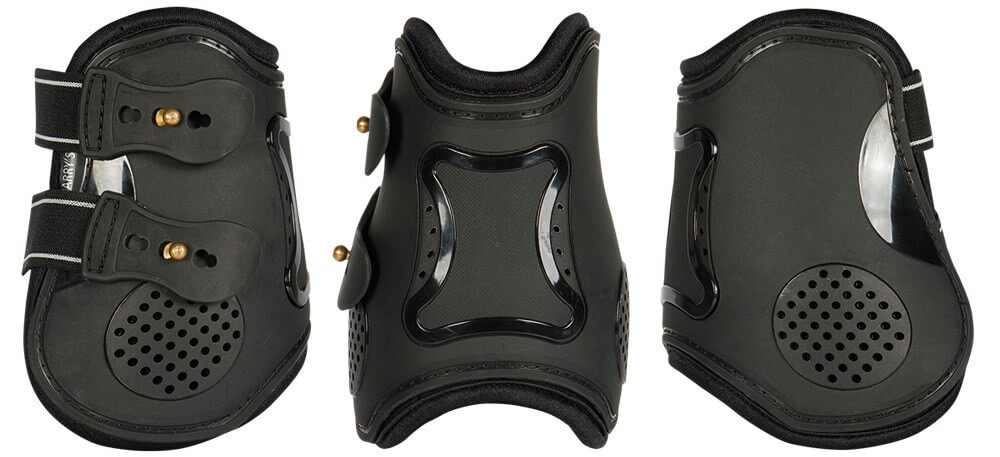 Harrys Horse Elite R Air Protection Boots Black Hind