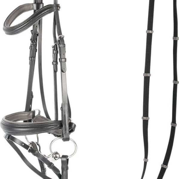 Harrys Horse Soft Contrast Bridle Black
