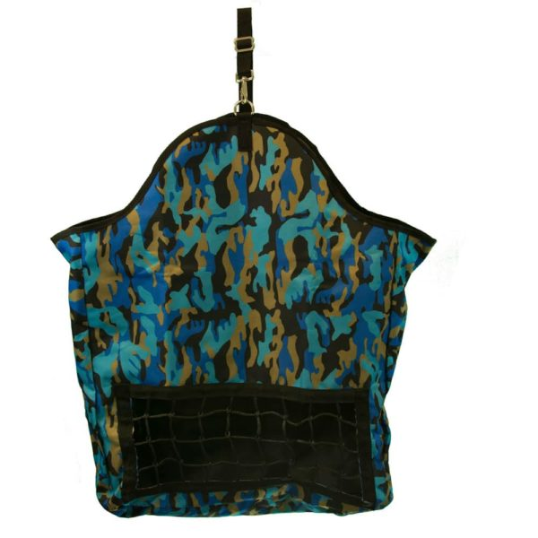 Hay Bag with Net Front Blue Camo