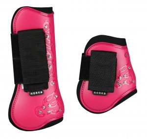 Horka Royal Crystal Tendon Boot Set of Four Pink