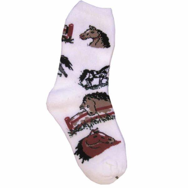 Horse Girls Lover Socks White Female 7-9