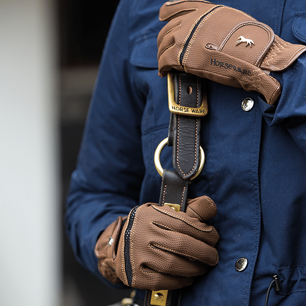 Horseware Competition Gloves Brown