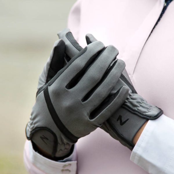Horze Evelyn Womens Breathable Gloves Steel Grey