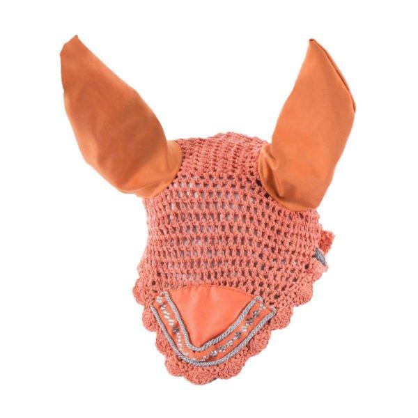 Horze Melrose Ear Net Orange