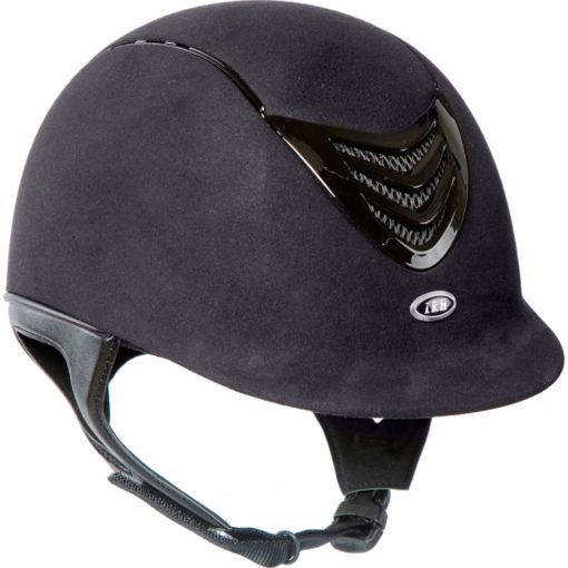 IRH IR4G Amara Suede Riding Helmet Black XL Adult Unisex